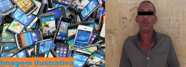 Um dos autores dos furtos de celulares no show do Wesley Safadão em Avaré/SP. Celulares fotos ilustrativas
