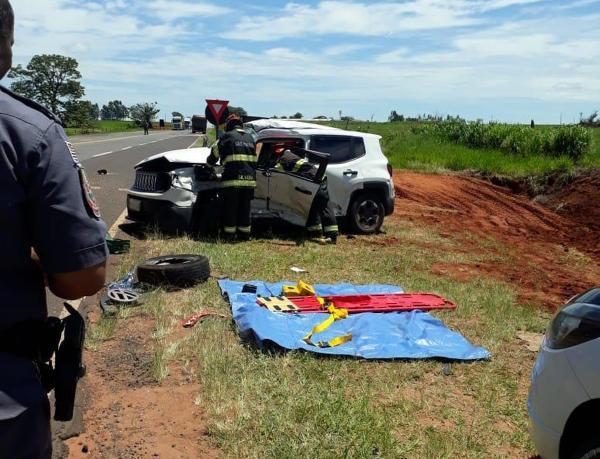 Acidente foi na SP-457, em Rancharia — Foto: Paulo Sérgio Bertoli de Santana/Cedida