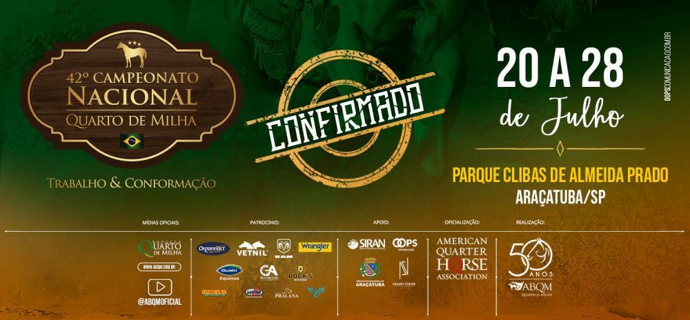 ABQM confirma 42º Campeonato Nacional em Araçatuba (SP)