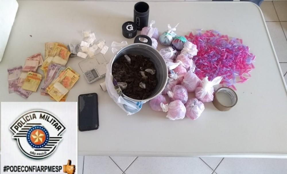 Droga foi apreendida em Avaré (SP) — Foto: Polícia Militar/Divulgação
