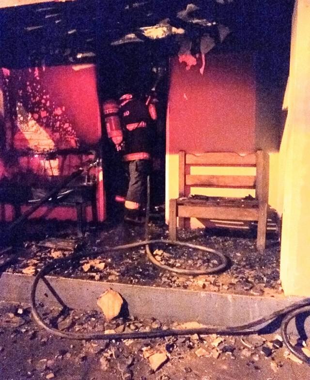 Casa de mãe e filho idosos pega fogo em Avaré — Foto: Divulgação/Corpo de Bombeiros