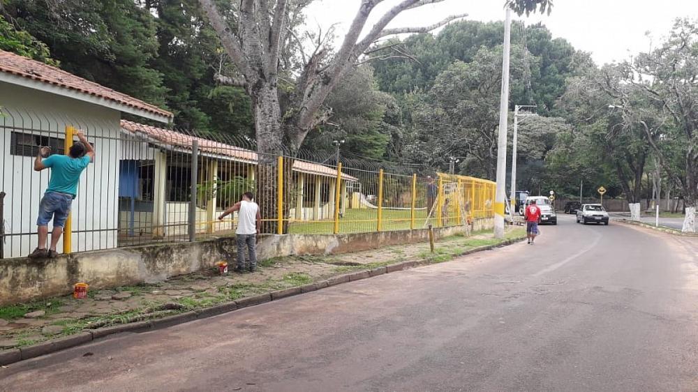 Campo de bocha e pista de skate do Ipiranga recebem nova pintura