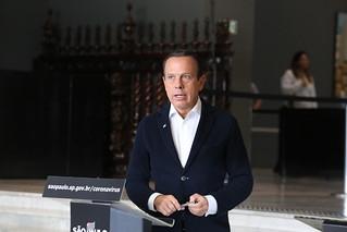 O Governador do Estado de São Paulo João Doria durante entrevista coletiva de imprensa sobre o coronavírus. Dia:21/03/2020 Local: São Paulo/SP Foto: Governo do Estado de São Paulo.