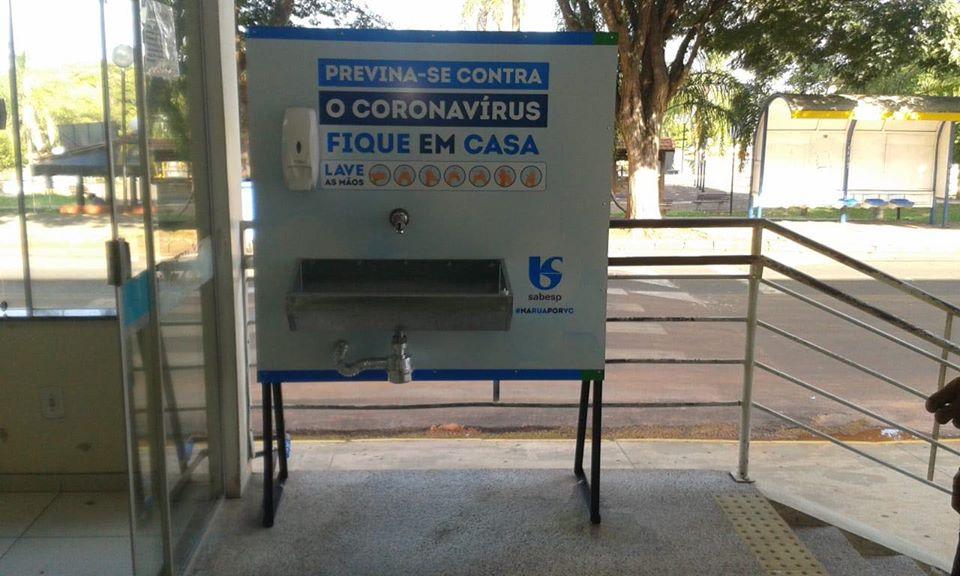 Sabesp instala 12 lavatórios em cidades da região para ajudar a evitar a propagação do coronavírus