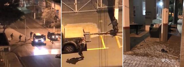 Bandidos explodem agência bancária e destroem base da PM em Ourinhos