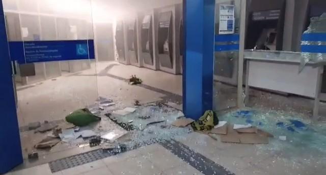 Criminosos explodem agência da Caixa Econômica Federal em Taquarituba
